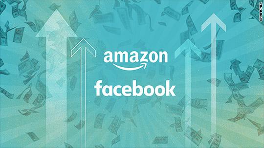 Facebook and Amazon hit $500 billion milestone