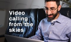 Testing out in-flight video calls
