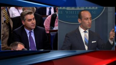 Acosta's full exchange with Stephen Miller