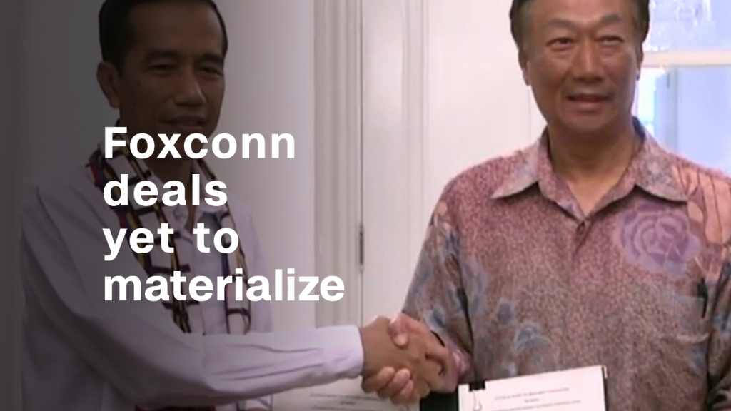Foxconn deals around the world haven't materialized
