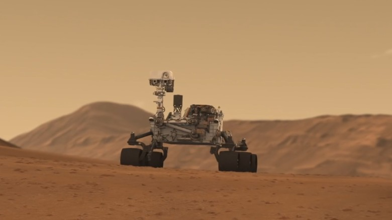 curiosity rover on mars background - photo #23