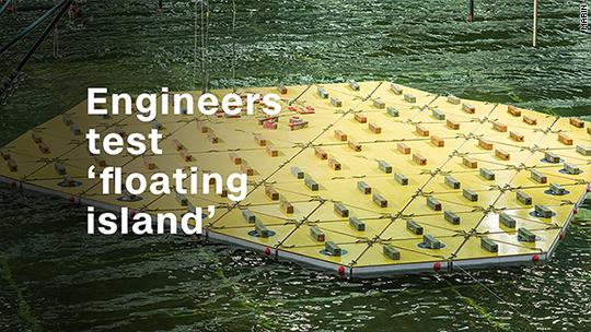Dutch engineers test 'floating island'