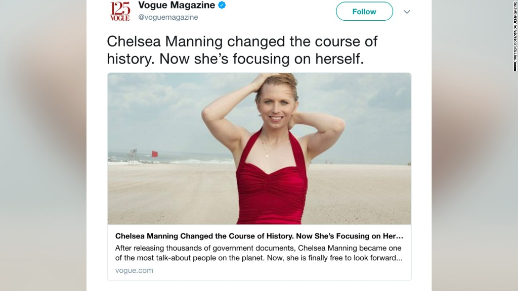 Chelsea Manning is making her Vogue debut