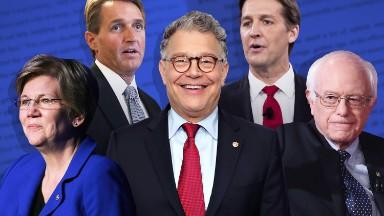 Franken, Sanders and Warren rule Senate bookstakes