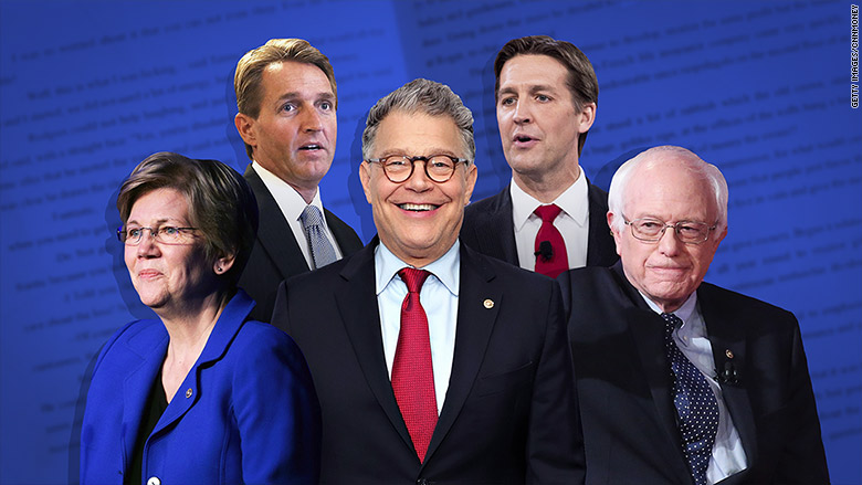 Franken, Sanders and Warren rule Senate bookstakes