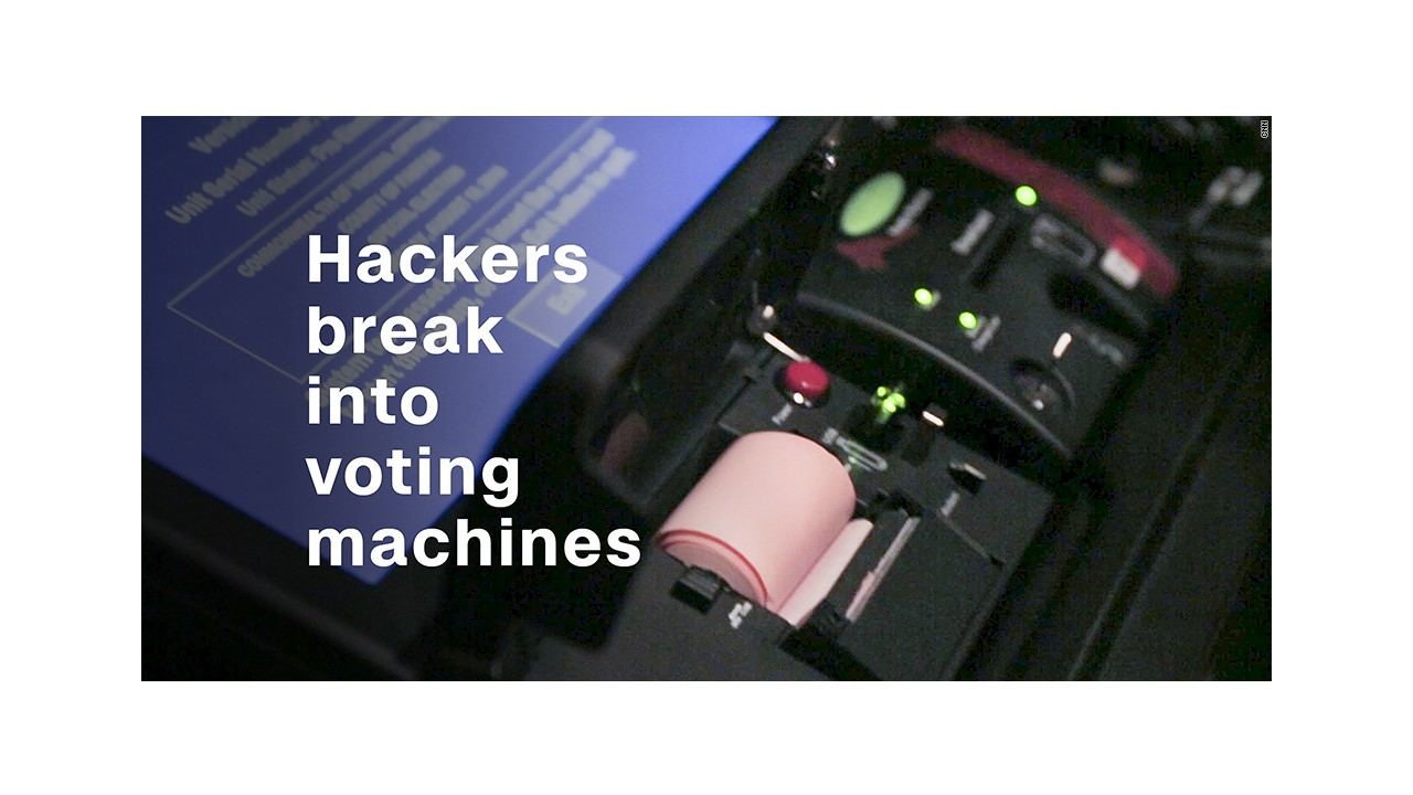 At the def con hacking conference hackers were invited to try their hand at infiltrating the technology we rely on every election including voting