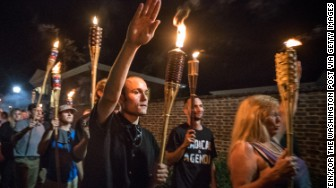 charlottesville white supremacists tiki torch