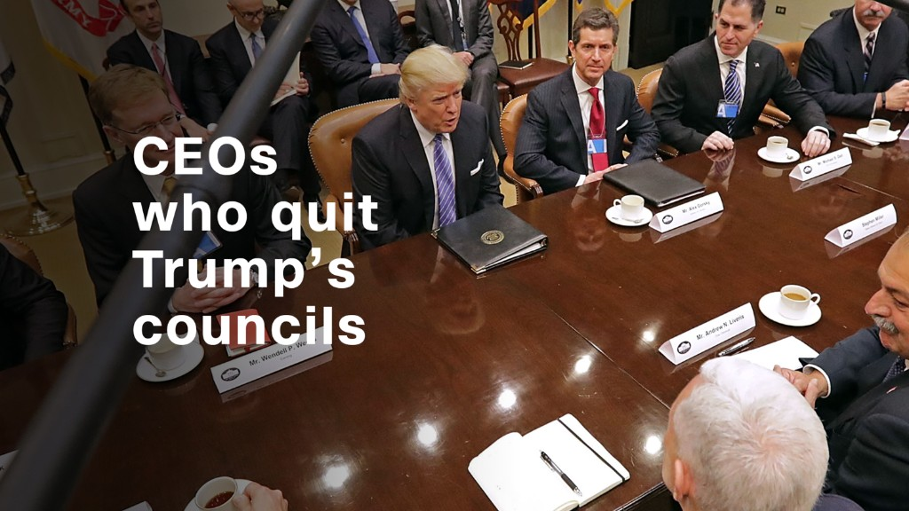 Trump Labels CEOs Who Left Advisory Panel as 'Grandstanders'