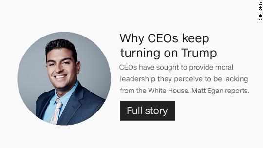 CEOS turning on Trump