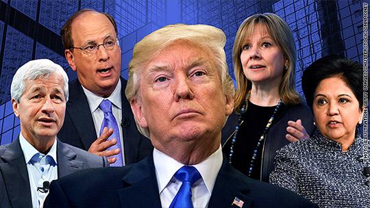 CEOs under fire to dump Trump