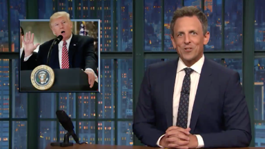 'All manner of stupid came out': Late night responds to Trump's press conference