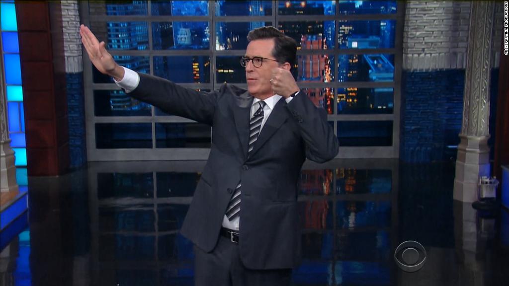 Colbert slams Trump's press conference