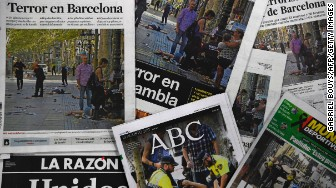 barcelona attack front pages