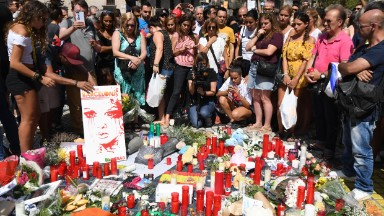 Barcelona attack: Flowers, candles and tears