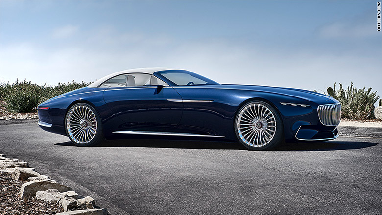 Mercedes unveils stunning super long luxury convertible for Mercedes benz maybach 6 price