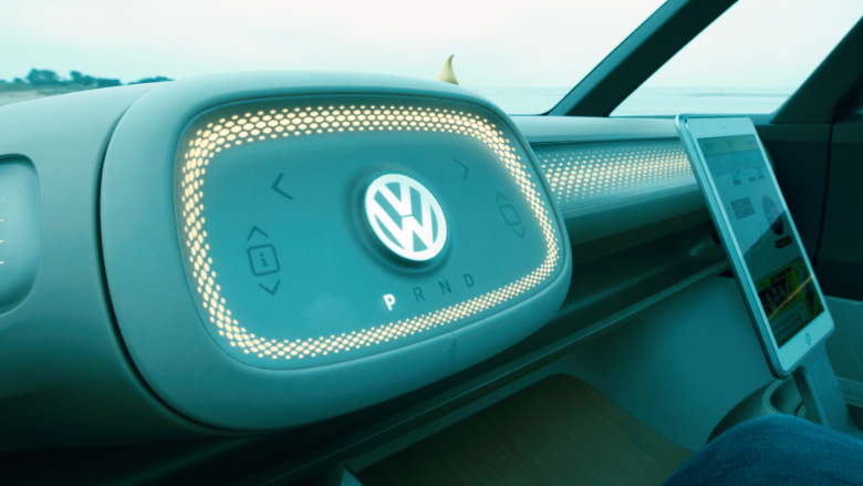 VW buzz concept car interior