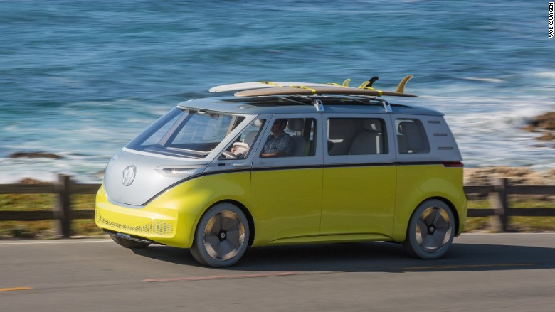 Volkswagen Microbus 2017 >> Test driving VW's groovy electric van of tomorrow