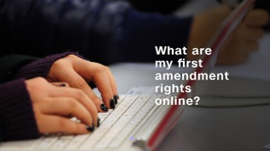 Where do your first amendment rights end online?