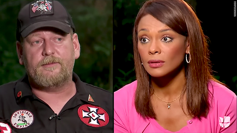 'We're going to burn you out': Univision anchor has chilling moment with Klansman