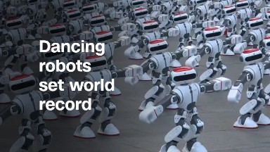 Dancing robots set world record ... again