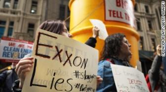 Exxon climate change protest