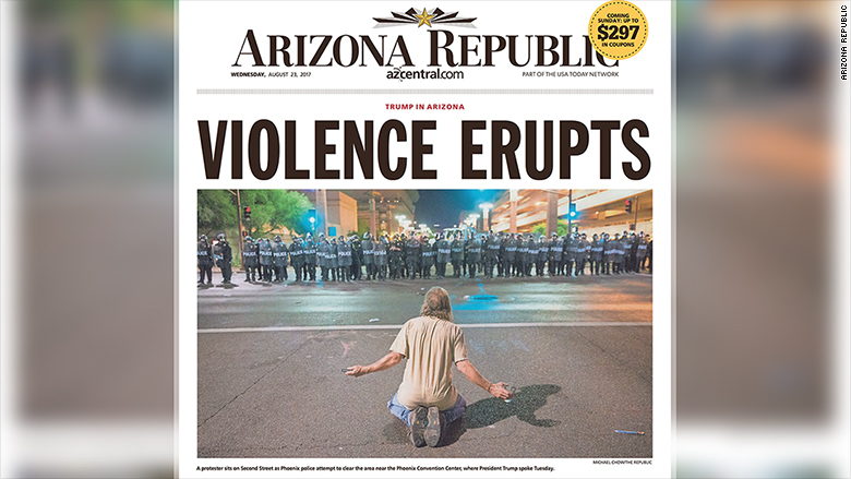 arizona republic front page
