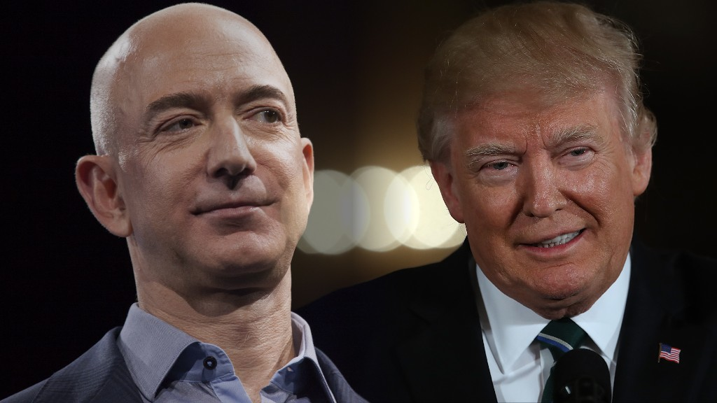 President Trump vs Amazon CEO Jeff Bezos