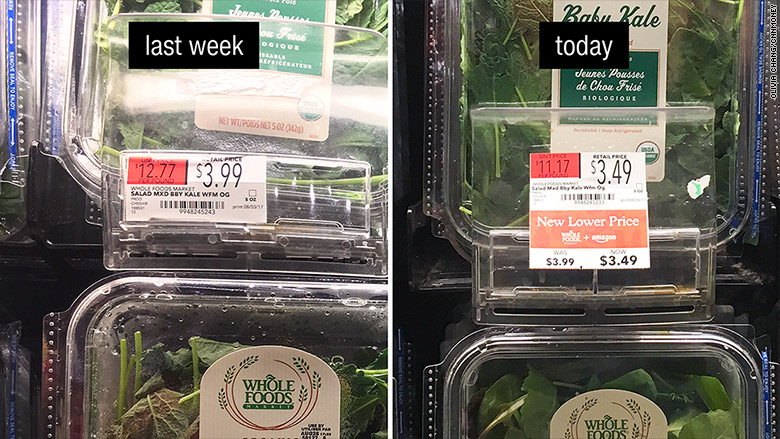 whole foods price drop kale
