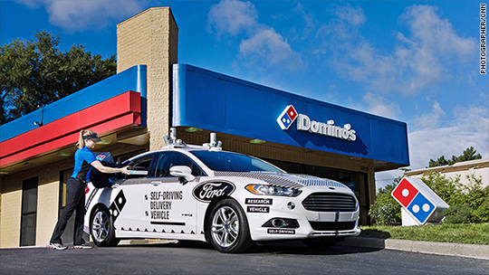 & Dominou0027s testing self-driving pizza delivery - Aug. 29 2017 markmcfarlin.com