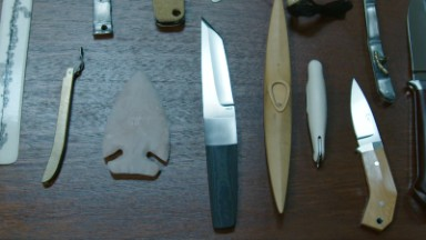 Apple designer Marc Newson has a crazy knife collection