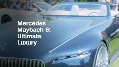 The 20-foot-long 2-seat Mercedes convertible
