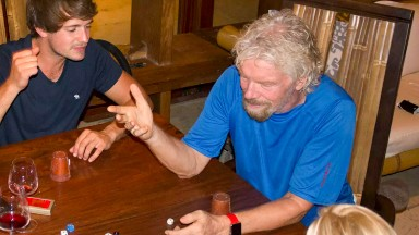 Richard Branson rides out Hurricane Irma in wine cellar