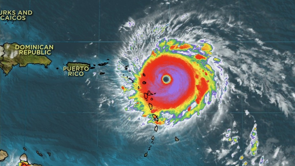 Hurricane Irma battering Caribbean islands