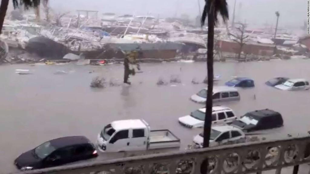 Wrath of Hurricane Irma on the Caribbean