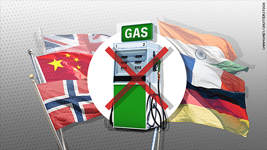 These countries want to ban gas and diesel cars