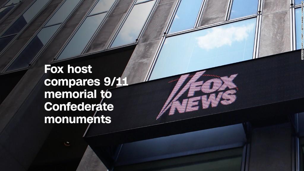 Fox host compares 9/11 memorial to Confederate monuments