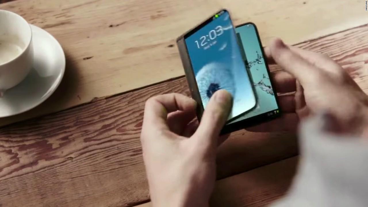 samsung folding phone demo