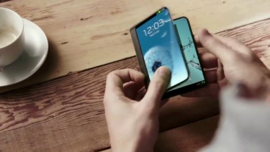 What a folding Samsung smartphone could look like