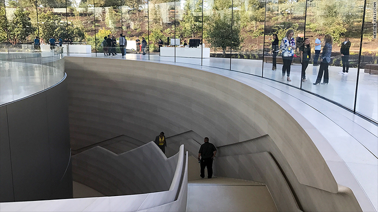 apple event jobs theater stairs