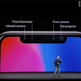 apple event iphone x face recognition