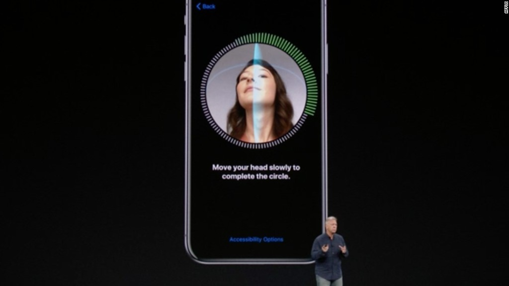 Image result for Apple introduces iPhone X with facial recognition and screen without start button