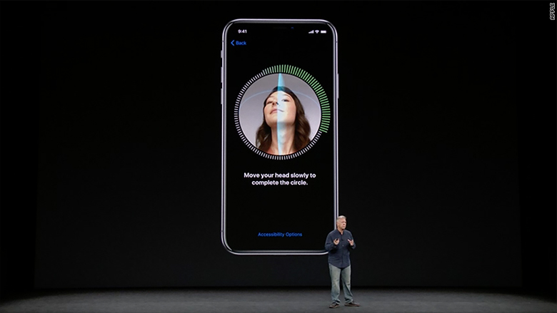 apple event iphone x facial recognition 2