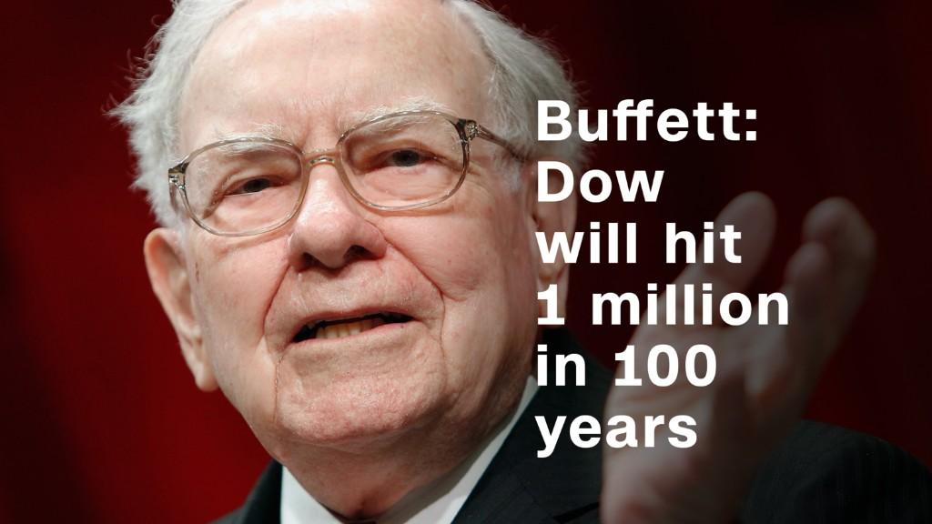 Buffett: Dow will hit 1 million in 100 years