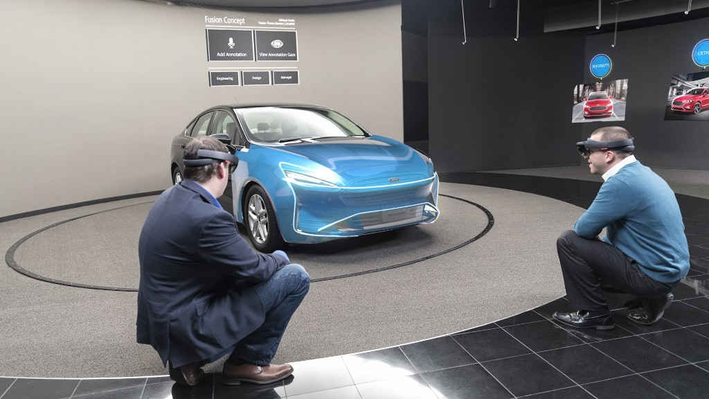 Ford designers test ideas with HoloLens 'mixed reality'