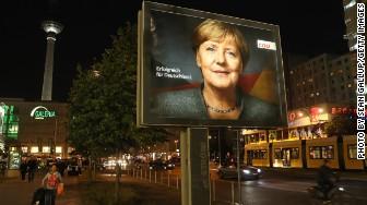 Angela Merkel campaign billboard