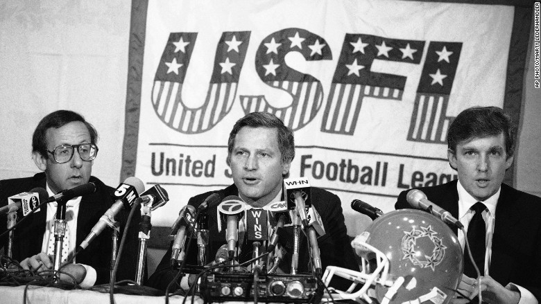 Trump's strange history with pro football