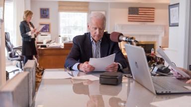 Joe Biden's latest gig: Curating the news
