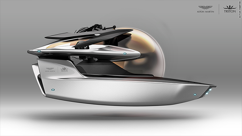 aston martin submarine triton side