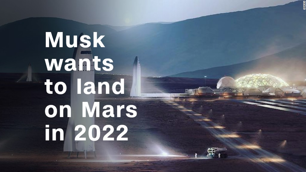 Musk wants to land on Mars in 2022