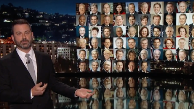 Jimmy Kimmel gets emotional after shooting in his hometown Las Vegas